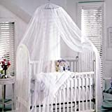 TININNA Insektenschutz Mückennetz Moskitonetz für Kinderbetten Himmelbett Weiß