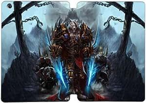 Cubierta de cuero y caja de la PC funda / soporte para funda de Apple iPad Mini 4 funda Con Magnetic reposo automático Función de despertador DIY por Newest World Of Warcraft S7F6Ky8D6Cm