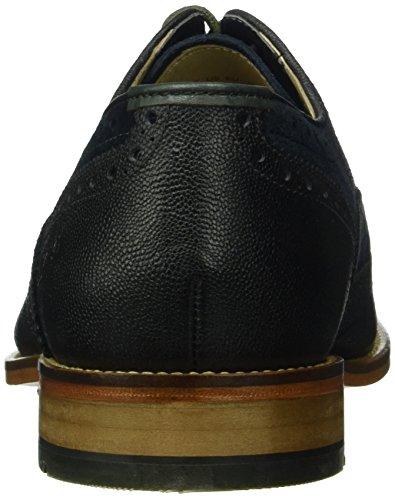 Clarks Penton Limit - Zapato brogue de cuero hombre Azul (Navy Combi Leather)