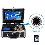 Eyoyo Fishing Camera Video Fish Finder 7 inch LCD Monitor HD 1000TVL Camera 12pcs IR LED DVR+8GB with 30m Cable for Ice Lake Boat Fishing