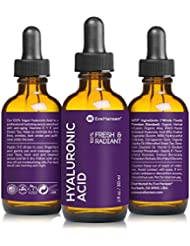 Hyaluronic Acid Serum 1 Ounce by Eve Hansen. Vegan Hydrating Serum and Anti Wrinkle Serum with Moisturizing, Brightening and Plumping Technology. Pure Hyaluronic Moisturizer Wrinkle Filler!