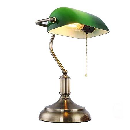 Lámpara de Escritorio Antigua de Iron Bank/Lámpara de Mesa de ...