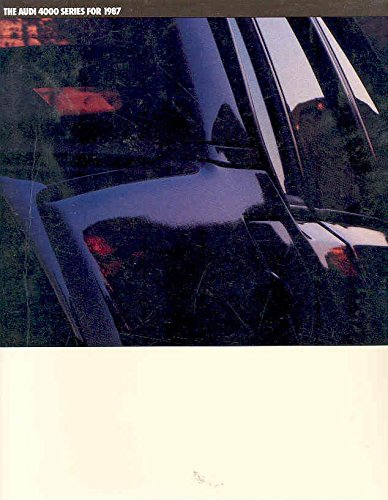 1987 Audi 4000 Series Prestige Sales Brochure 1987 Audi 4000 Series