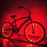 Bike Lights / Complete Set!!! : Front, Back AND both Wheel Lights from Camp Luna Lover (red) Review