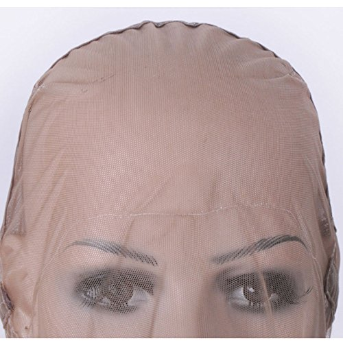 Ladybeauty Full Lace Wig Cap for Making Wigs Swiss Lace Hair Net Brown Color for Wig Making by Ladybeauty (Image #3)