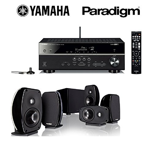 Yamaha-RX-V481BL-Receiver-Black-Paradigm-Cinema-100-CT-51-Home-Theater-System-Bundle