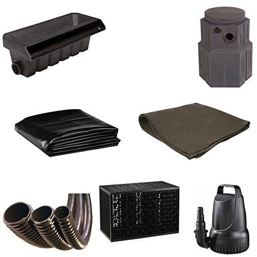 10' x 20' Medium Pondless Waterfall Kit, Water Matrix Kit - Includes Pondbuilder Waterfall Box & Pump Canyon, 3 Eco-Blox, 4,100 GPH Pump - PMDPB8 - Pondless Kit