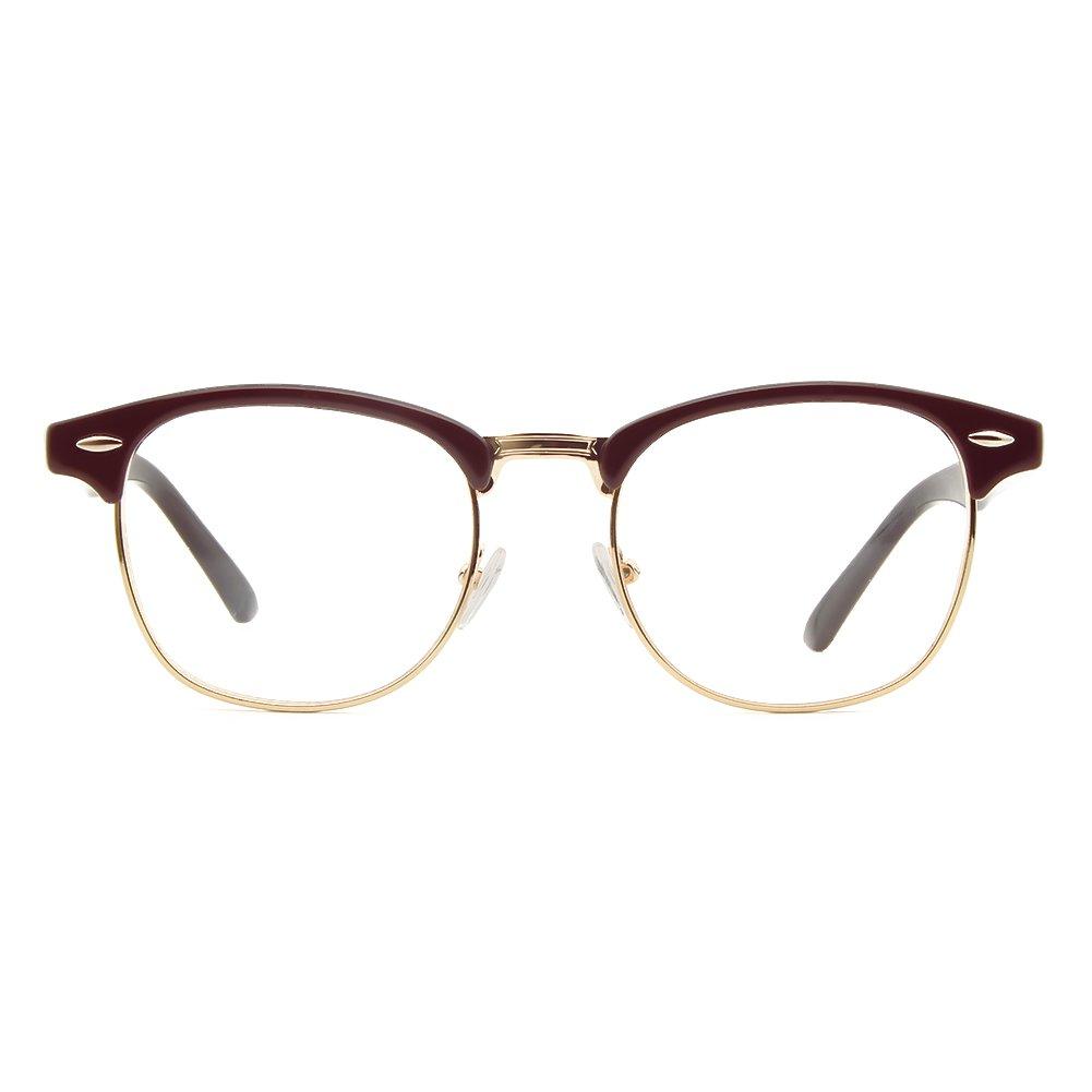Cyxus Blue Light Blocking Glasses(Browline) Anti Eyestrain Headache for Women Men Eyewear (Wine Red) Cyxus Technology Group Ltd CY-221