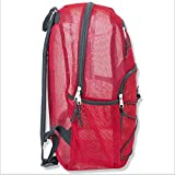 Deluxe Mesh Bungee Backpack With Padded Shoulder Straps