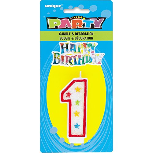 Glitter Number Birthday Candle Topper