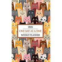 2019 One Day at a Time Weekly Planner: Colorful Cat Themed Recovery Oriented Schedule Keeps Sobriety in Focus for Kitten Crazed Folks!