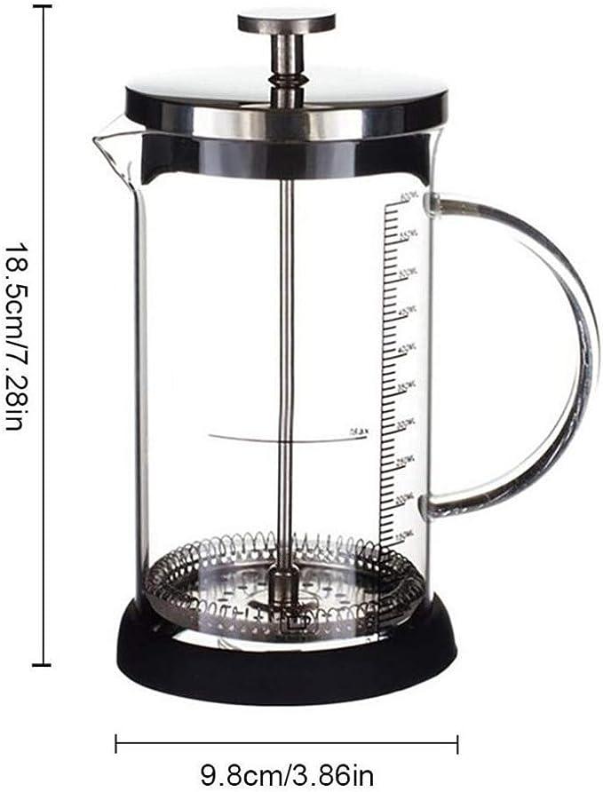 AQWWHY Cafetera de vidrio Prensa francesa de café Prensa de 350 ml ...