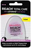 Reach Total Care Floss with Listerine, Fresh Mint, 30 Yards (Pack of 4)