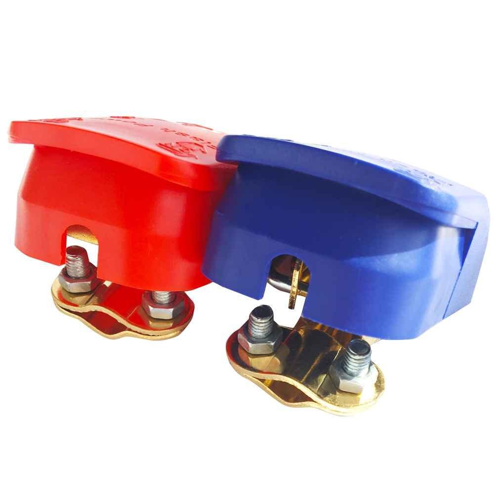 24V de la bater/ía Interruptor de liberaci/ón r/ápida de la bater/ía Terminales Scap Conectores Abrazaderas compatibles con el Carro del Barco del Coche Van Censhaorme 2pcs 12