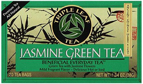 Triple Leaf Tea, Jasmine Green Tea, 20 Tea Bags - Chinese Jasmine Green Tea