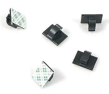 Abrazaderas de Cable Autoadhesivas de plástico Rectangular para Sujetar Cables de Alambre y desatar el Cable para escritorios, mesas, Paredes, archivadores, ...
