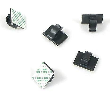 Abrazaderas de Cable Autoadhesivas de plástico Rectangular para Sujetar Cables de Alambre y desatar el Cable