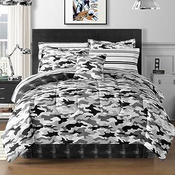 Amazoncom Cadet Camo Complete Bedding Set with Sheets black