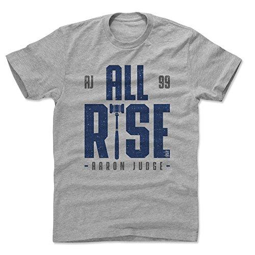 500 LEVEL Aaron Judge Cotton Shirt X-Large Heather Gray - New York Baseball Men's Apparel - Aaron Judge Rise B ()