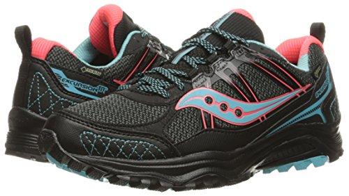 Tr10 Compétition Femme Coral de Excursion Blue Chaussures Saucony Running Black pwf5Agpq