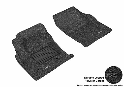 3D MAXpider Front Row Custom Fit Floor Mat for Select Ford Fusion Models - Classic Carpet (Black)