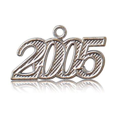 - Year 2005 Silver Drop Date Signet for Graduation Tassel