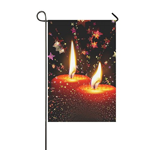 Home Decorative Outdoor Double Sided Candles Christmas Advent Light Burn Advent Wreath Garden Flag,house Yard Flag,garden Yard Decorations,seasonal Welcome Outdoor Flag 12 X 18 Inch Spring Summer Gift