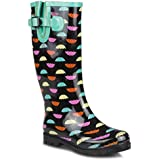 Twisted Women's DRIZZY Tall Cute Rubber Rain Boots