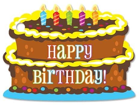 Amazon.com: Torta de cumpleaños Tema regalo cards3 – 3/4 X 2 ...