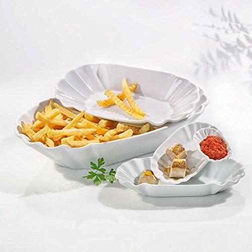 IMBISS Pommesschale 12 St/ück von Einhorn Gr/ö/ße 15 x 8 x 2,5 cm aus Porzellan