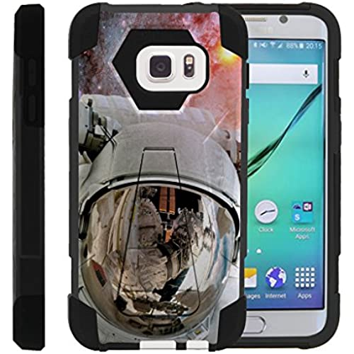 Galaxy S7, Dual Layer Armor Cover SHOCK High Impact with Built In Kickstand Case with Galaxy Designs Samsung S7 by Miniturtle - Astronaut in Space Sales