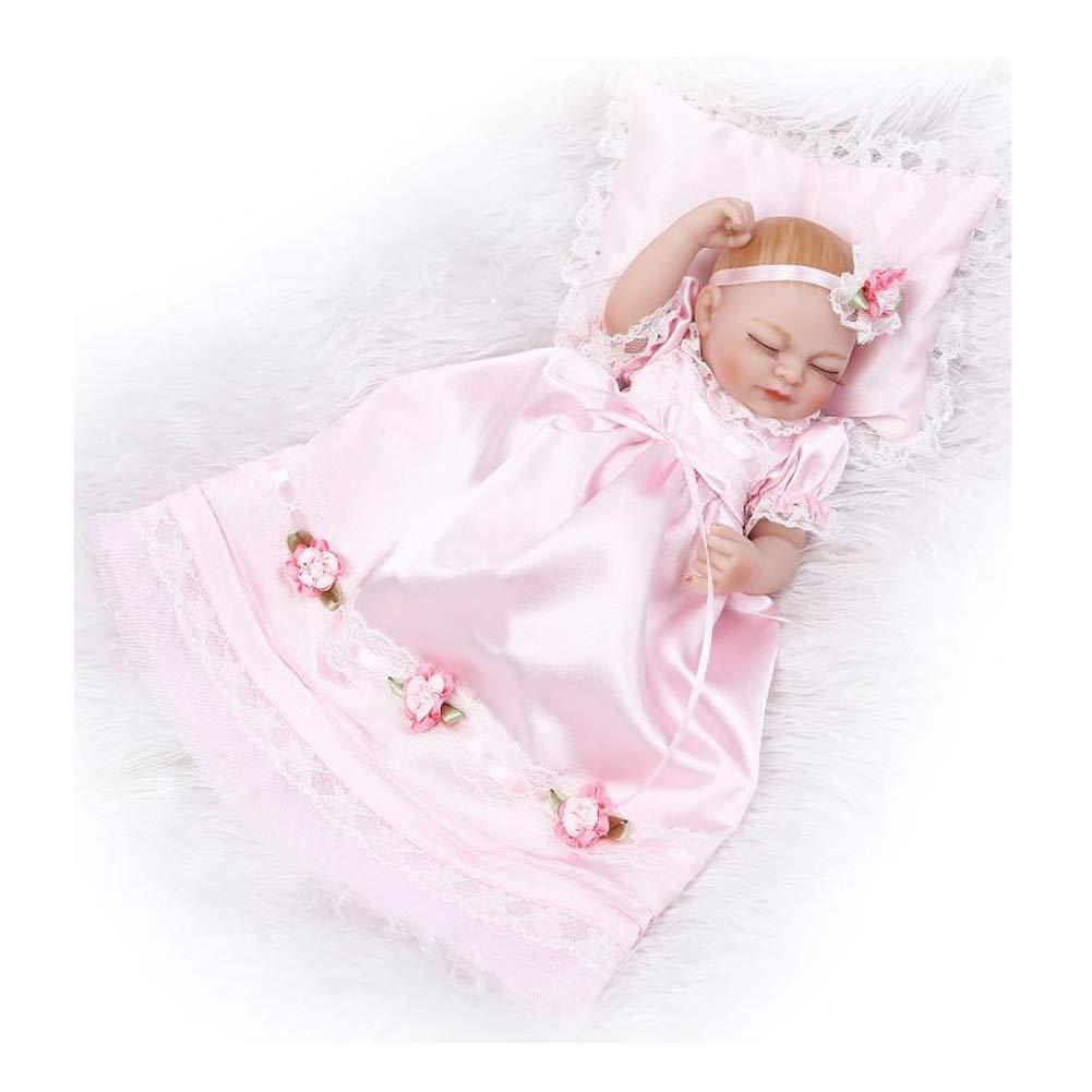 IIWOJ Mini Reborn Baby Doll, Bella Silicone Vinile 10,63 Pollice Realistico Neonati Occhi Chiusi-Girl ' s Gifts 63 Pollice Realistico Neonati Occhi Chiusi-Girl ' s Gifts