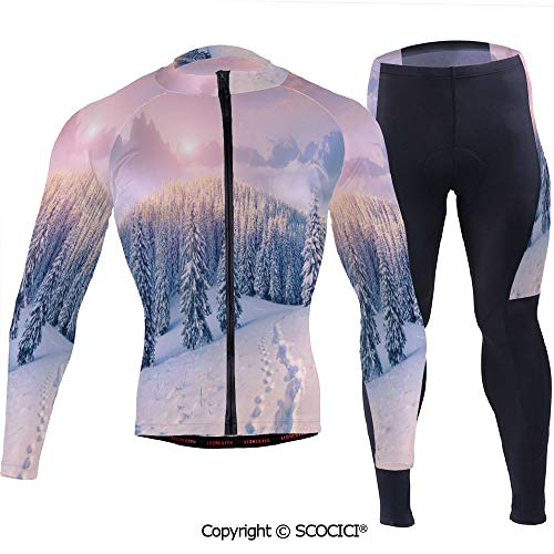 Outdoor Bicycle Rider Bicycle Suit Bicycle Wear,Idyllic Winter Morning in Woodla