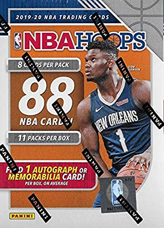 2019 2020 Hoops Nba Basketball Blaster Box Of Packs With One Guaranteed Autograph Or Memorabilia Card Per Box And Possible Rookies And Stars Including