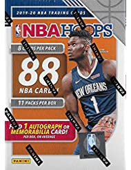 2019 2020 Hoops NBA Basketball Blaster Box of Packs with One GUARANTEED AUTOGRAPH or MEMORABILIA Card Per Box and Possible Rookies and Stars including Zion Williamson