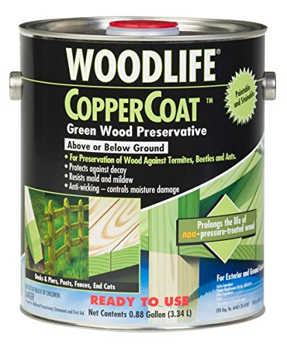 Rust-Oleum 01901 Coppercoat Wood Preservative, 0.88-Gallon, Green
