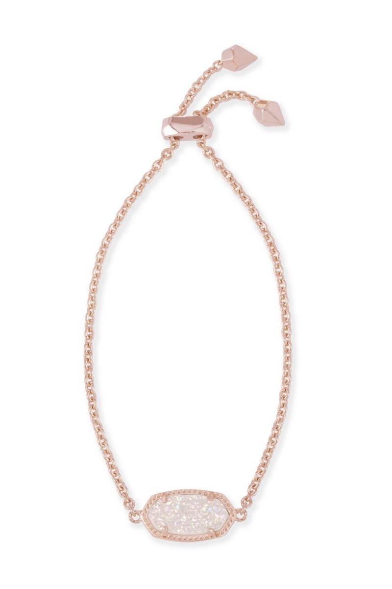 Kendra Scott Women's Elaina Bracelet Rose Gold/Iridescent Drusy One Size