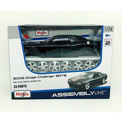 Maisto 1:24 Scale Assembly Line 2008 Dodge Challenger SRT8 Diecast Model Kit (Colors May Vary) (Dodge Model Kits Trucks)