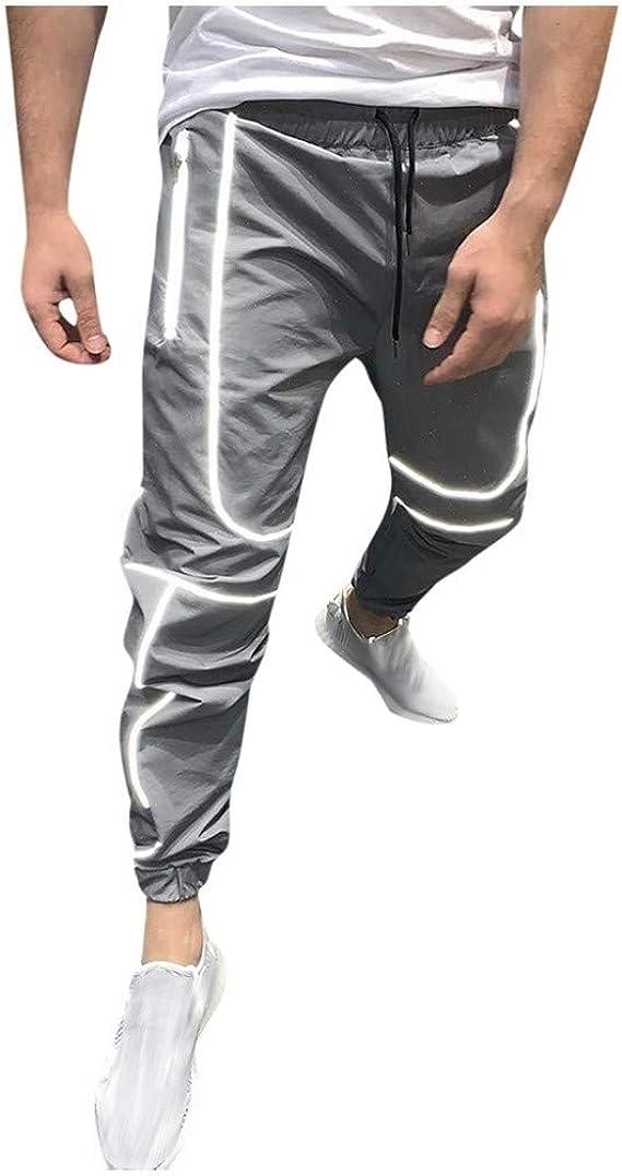 ZEZKT pantalón Largo Deporte para Hombre Pants de chándal Moda ...