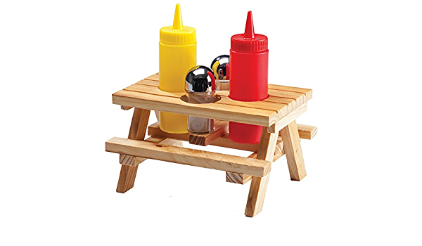 Wilcor Table Condiment Holder One Size Wood Amazon Ca Home Kitchen