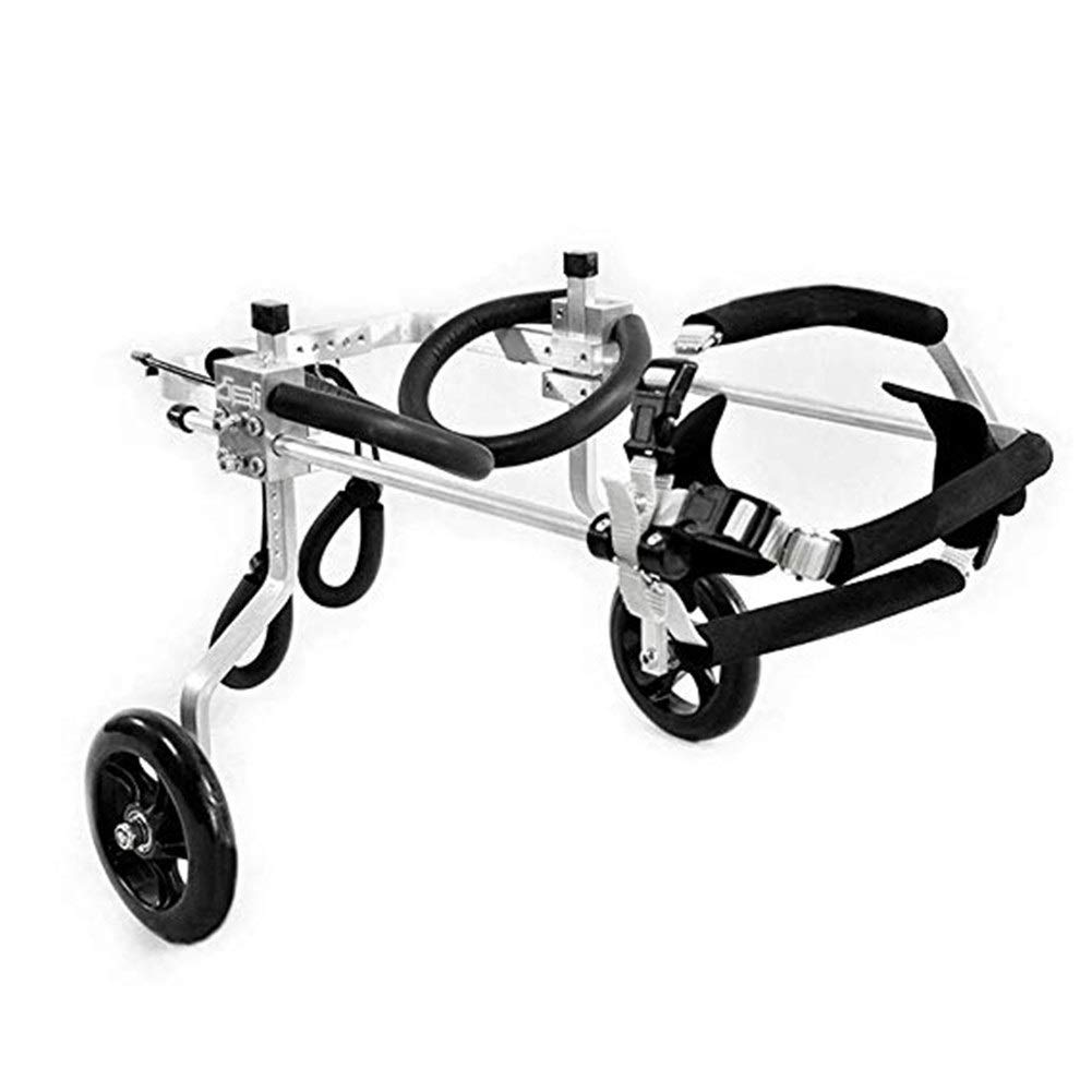 LMCWLY Pet Wheelchair, Dog Hind Limb Assisted Bicycle, Adjustable Dog Wheelchair Disabled Dog Assisted Walking Car, Hind Leg Sports Car Cat Puppy Auxiliary Bracket (Size : L) by LMCWLY