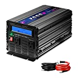 Novopal 2000W Power Inverter Modified Sine Wave DC 12v to AC 120v Dual AC Outlets with LCD Display -Black