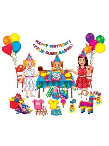 Birthday Party Felt Doll Set for Flannel Boards by Little Folk Visuals / Betty Lukens
