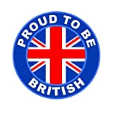 Proud To Be British - Union Jack Flag Car Sticker Sign / Window Decal Bumper