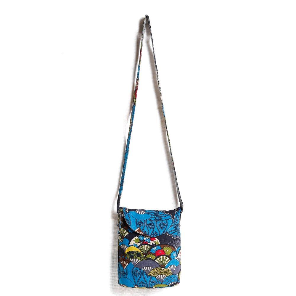 Stylish Hobo Crossbody Shoulder Cotton Fabrics Bag Women Multicolored Travel Mini Bucket Bag by miaomiaojia