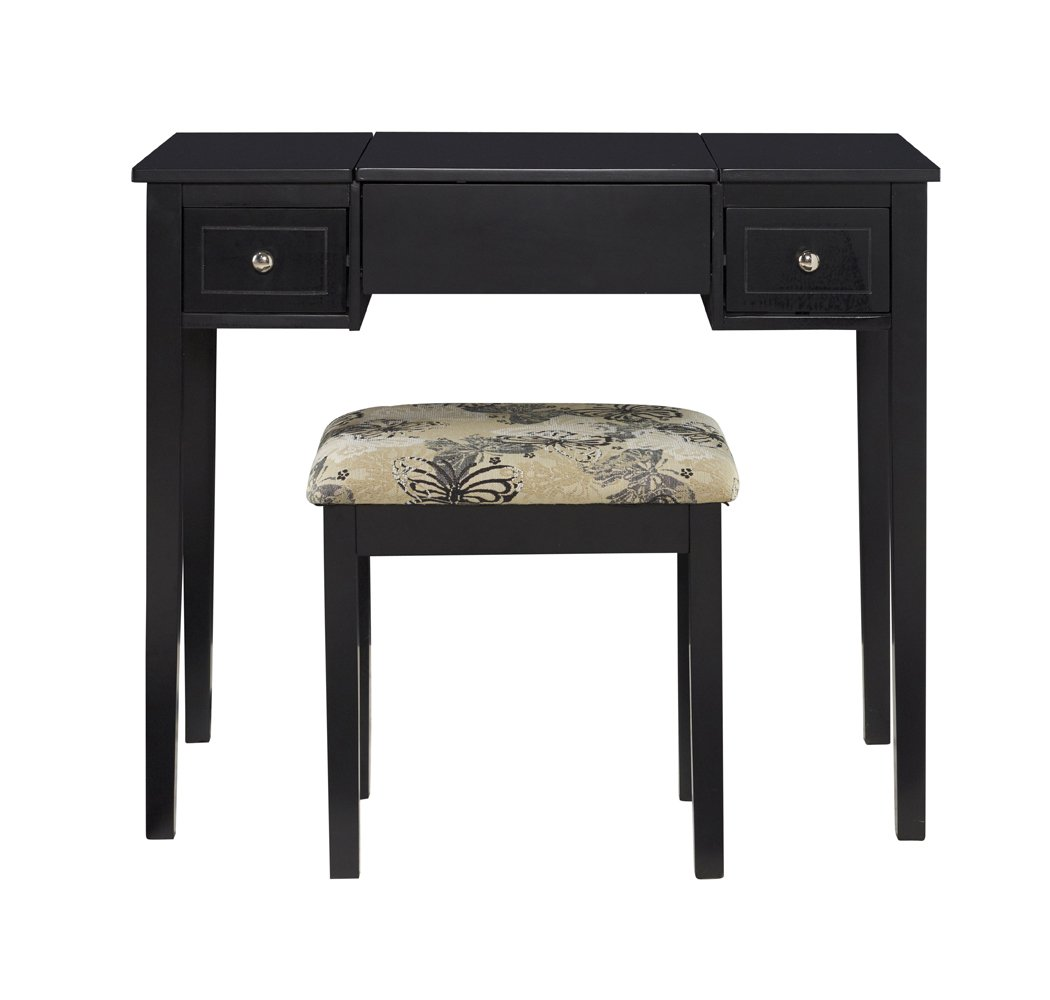 Black Linon Home Decor Products Inc AMZN0328 Vanity Set Furniture