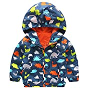 HOT SALE! Napoo Baby Infant Girls Boys Cute Dinosaur Hooded Zipper Coat Cloak Jacket Thick Warm Clothes (18M, Navy)