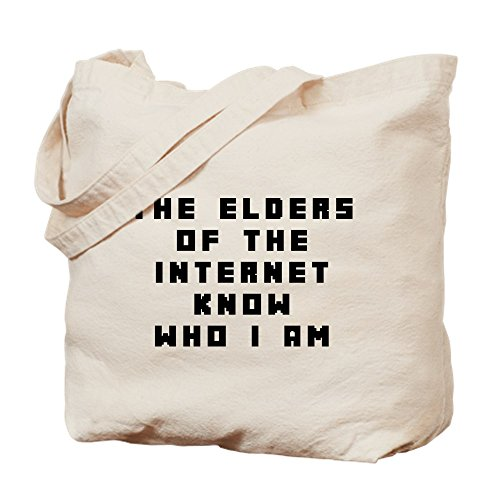 Am Canvas The The Internet Of Elder Bag Bag Tote Shopping I Natural Know Who Cloth CafePress vawq8fx