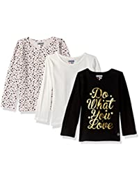 Girls' 3 Pack Long Sleeve T-Shirt (More Styles Available)