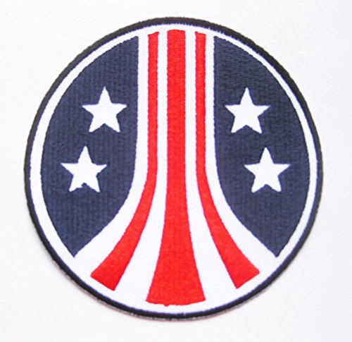The Alien Aliens Stars & Stripes Round Uniform Crew LOGO sew iron on Patch Badge Embroidery 8.6 cm 3.4